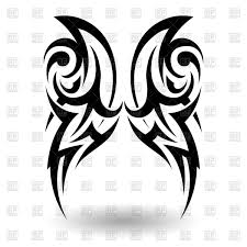 tattoo pictures download hand drawn wings tribal tattoo royalty free vector clip art image