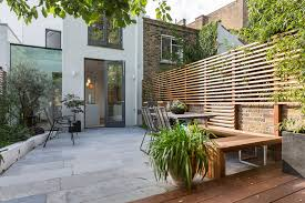 horizontal fence designs patio contemporary with privacy fence
