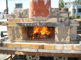 Build An Outdoor Fireplace by How To Build A Temporary Wood Fired Brick Pizza Oven With Cheap