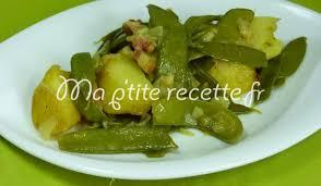 cuisiner des pois mange tout pois mangetout aux pommes de terre recette accompagnement pomme de