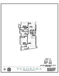 panorama floor plans 2 bedroom 2 bath panorama towers las vegas
