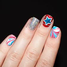 packapunchpolish 4th of july water marble nail art with tutorial