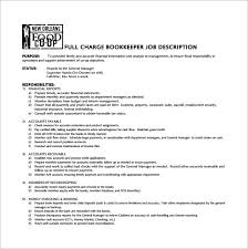 Sample Resume For Bookkeeper by Bookkeeper Job Description Bookkeeper Cover Letter Examples For