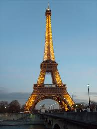 lighted eiffel tower in paris free images for commercial use