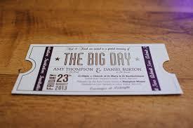 Movie Ticket Wedding Invitations Ticket To The Theatre Wedding Invite In Red Cinema And Theatre