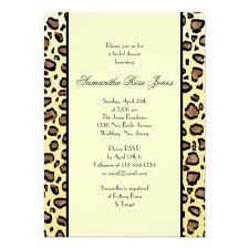 leopard print wedding invitations wedding decor theme