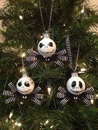 skellington the nightmare before set of 3 ornaments