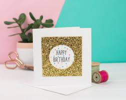glitter cards etsy