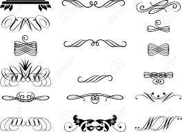 set of decorative ornaments royalty free cliparts vectors and