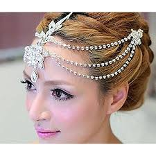 bridal hair accesories rhinestone forehead bridal hair accessories
