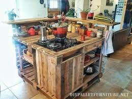 cuisine en palette îlot de cuisine faite avec des palettesmeuble en palette meuble