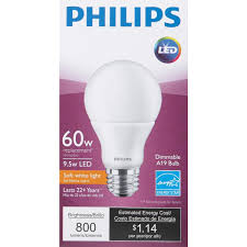 philips a19 medium dimmable led light bulb 461269 do it best