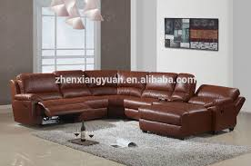 real leather sectional sofa sectional couches with recliners u shaped sofa reclining sleeper