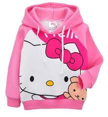 sanrio kitty girls hoodie jacket jumper hoody sweatshirt ebay