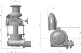 manual anchor windlass ercole vertical windlass