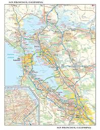 san francisco map it san francisco metro wall map maps