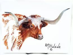 traditions longhorn portrait 12x16 mcelwaine print