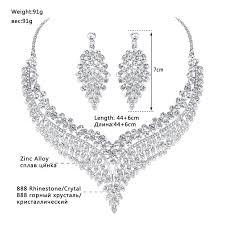 big crystal statement necklace images Mecresh leaf african bridal jewelry sets for women big clear jpg