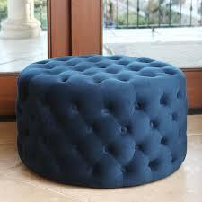 fresh australia navy blue upholstered ottoman 9681