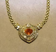 yellow sapphire necklace images 18k yellow sapphire and diamond heart necklace viauestatejewelry jpg