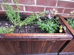 weatherproofing my wooden planter boxes blank space