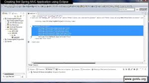 design html page in eclipse spring mvc tutorials 05 creating first spring mvc web application