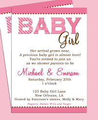baby shower invite wording baby shower invitation wording for a girl marialonghi