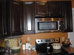 Dark Espresso Kitchen Cabinets Small Modern Kitchen Design With L Shaped Wooden Cabinets