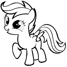 scootaloo coloring pages getcoloringpages com