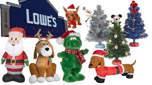 Home Depot Inflatable Christmas Decorations Christmas Store Tour Lowes 2015 Animated Props Inflatables And