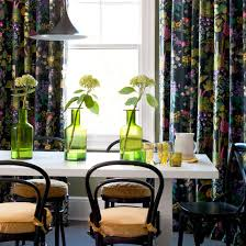 Black Floral Curtains Decorating With Oversized Florals Decorating Ideal Home