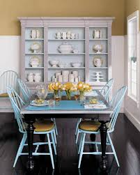 Blue Leather Dining Chairs by Yellow Rooms Martha Stewart