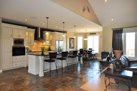 open floor plan kitchen dining living room kitchen design ideas
