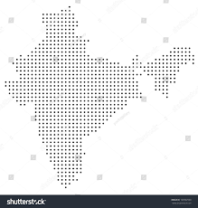 dotted india map stock vector 109992590 shutterstock