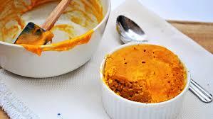 paleo pumpkin pie in a mug