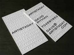 unique customized debossed business cards 600gsm white cardboard