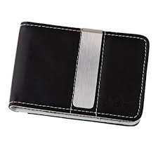 personal details resume minimalist wallet metal clippers black white leather bi fold money clip wallet for men cheapest