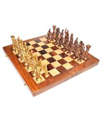 vintage 14 u0027 u0027 14 u0027 u0027 wooden chess board with brass roman piece buy