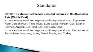 Middle East Physical Map by Physical Features Of The Middle East Ppt Video Online Download