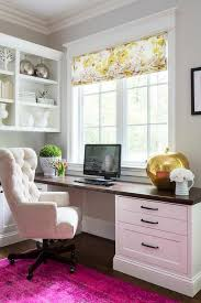 Comfy Office Chair Design Ideas Chic Home Office Features A Built In Desk Adorned With Bronze