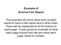 science fair report template exle of science fair report this exle will show what each