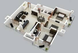 Model Home Plans Three Bedroom Large Family Home Plans In 3d Model Homescorner Com
