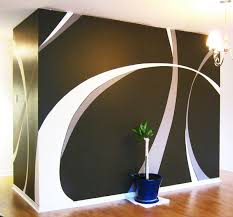 Wall Paint Designs  Design Light Up Your House Really Cool - Design of wall painting