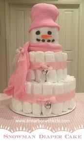 snowman diaper cake directions