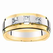 mens two tone wedding bands men s two toned diamond wedding band reis nichols jewelers