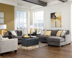 Livingroom Lamp Furniture Grey Sofa Loveseat Black Soft Table Chusion Light Brown