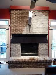 whitewash brick fireplace white mantel cpmpublishingcom