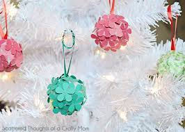 paper flower tree ornament craft for scattered