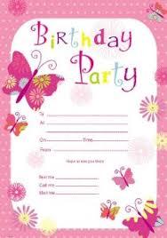 birthday invites free printable birthday invitations