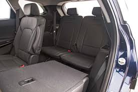 hyundai santa fe 3 child seats 2017 hyundai santa fe limited fwd test review